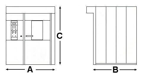 Space Saver Slimline Oven Diagram